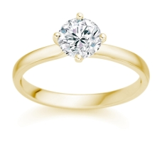 0.5 carat Diamond solitaire engagement ring set in 18 carat yellow gold £1699