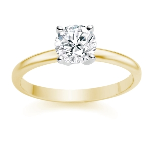 Round Cut 0.25 Carat D/VS1 18k Yellow Gold Diamond Engagement Ring £599