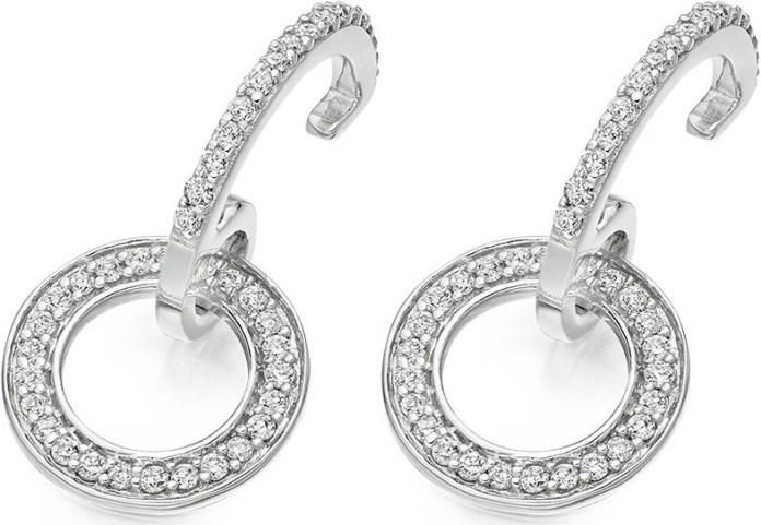 0.33 Carat Diamond Drop Earrings in 9k White Gold £639, Vashi.com, Vashi Dominguez