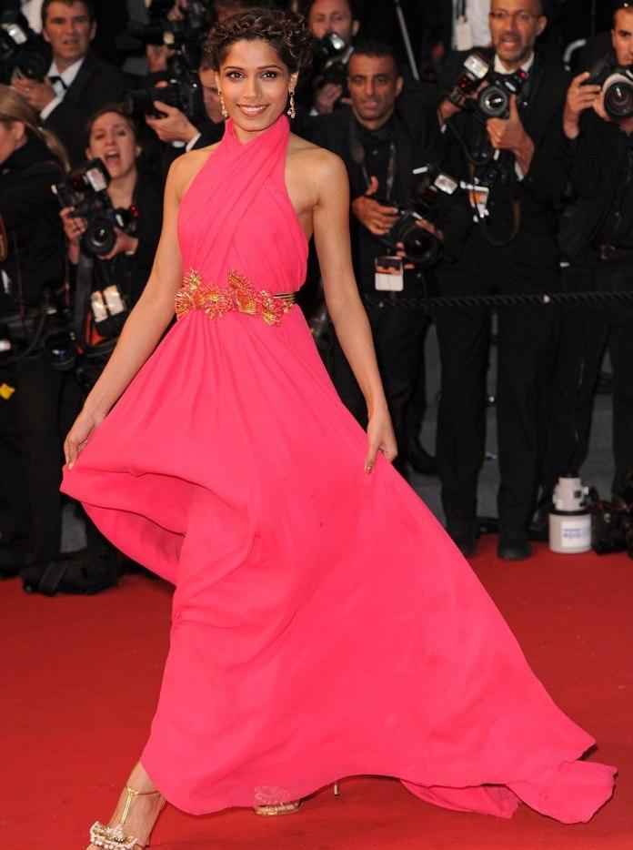 Freida Pinto, Cannes, pink, Vashi.com