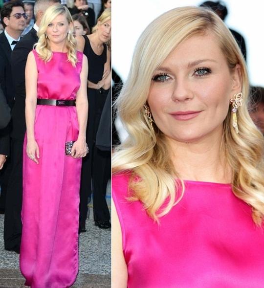 Kirsten Dunst, pink, Cannes, Vashi.com