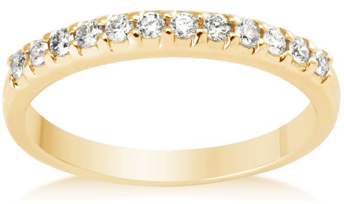 Vashi.com, Vashi, Graduated Diamond Ring in 18k Yellow Gold