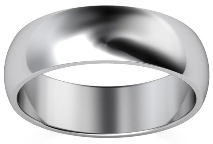 Heavy 6mm D Shape Palladium Wedding Ring £339, Vashi.com, Vashi Dominguez