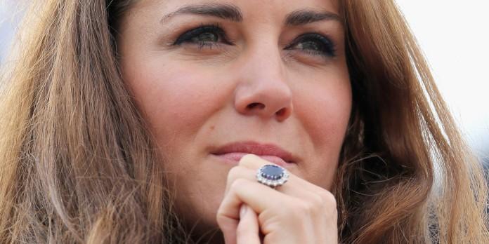 Kate Middleton's famous blue ring