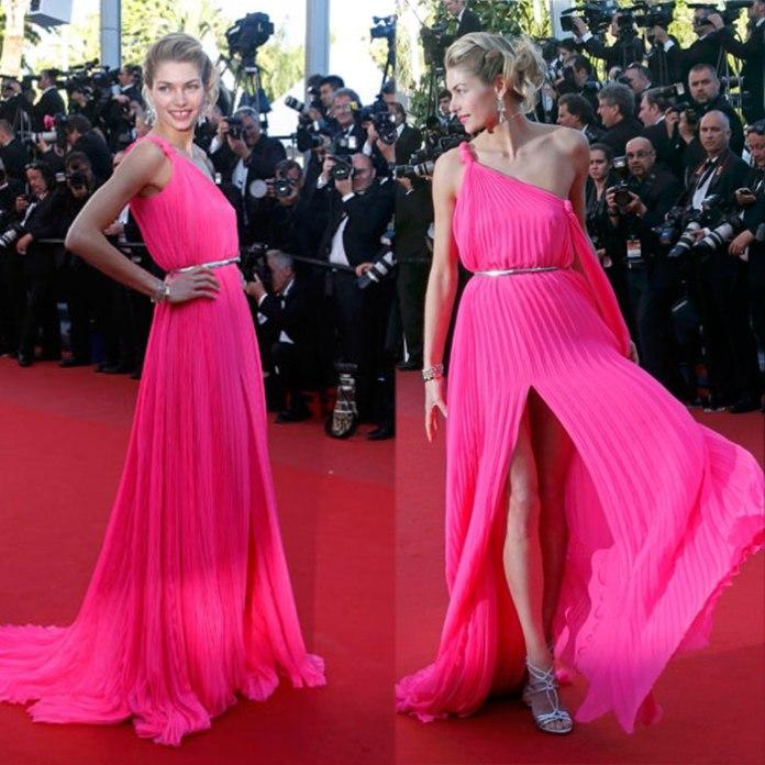 Jessica Hart, Cannes, pink, Vashi.com