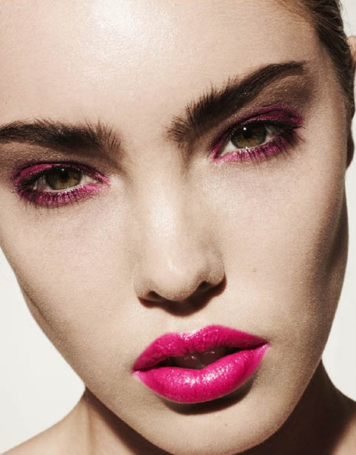 pink lips, pink eyeshadow, beauty, Vashi.com
