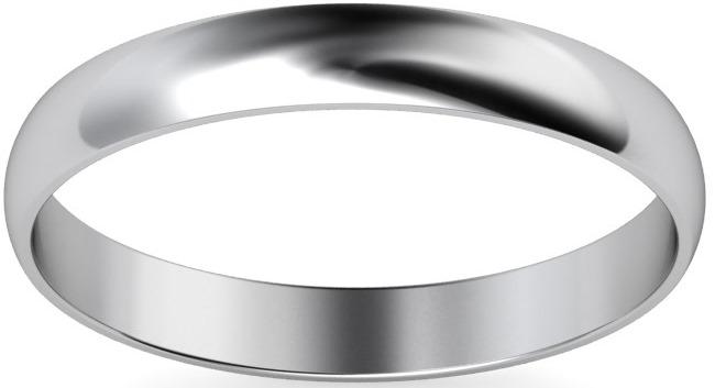 Medium 3mm D Shape Platinum Wedding Ring £519, Vashi.com, Vashi Dominguez