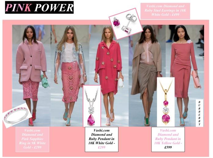 Pink Power, Vashi.com, Burberry, fashion, jewellery, Vashi Dominguez