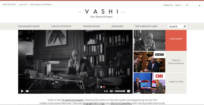 Homepage, Vashi.com, Vashi Dominguez