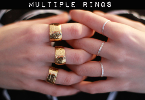 yellow gold rings, white gold rings, mixed metals