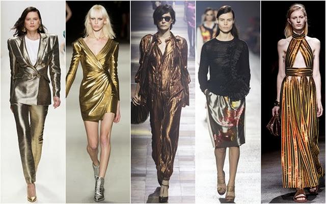 Fashion Week, fashion trends, metallic luxe